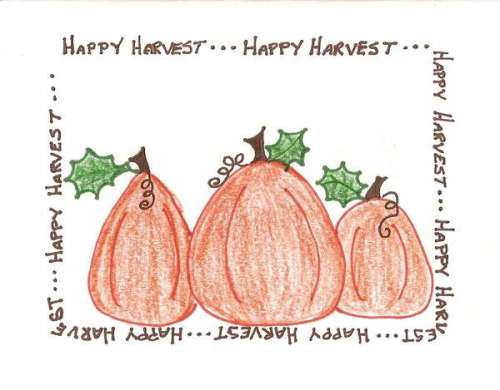 The original card, I got my pumpkins from this...they make a great pumpkin patch don't they!